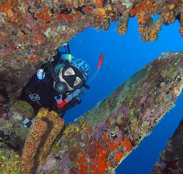 O naufrágio do Hilma Hooker em Bonaire.
